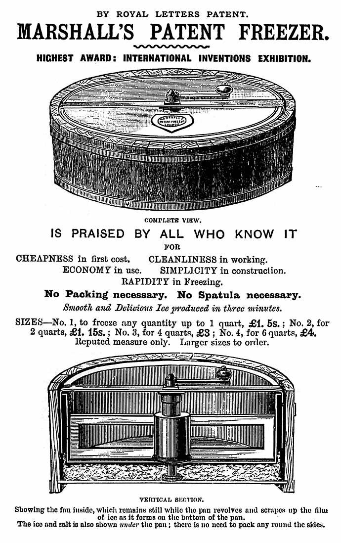 Marshall gepatenteerde ijsmachine