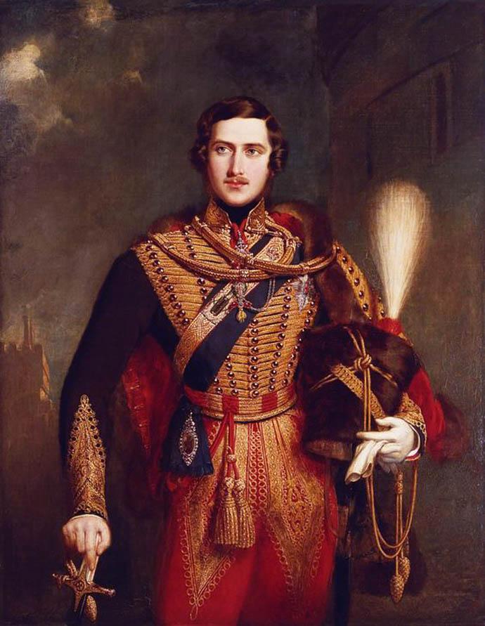 Prins Albert als jonge officier