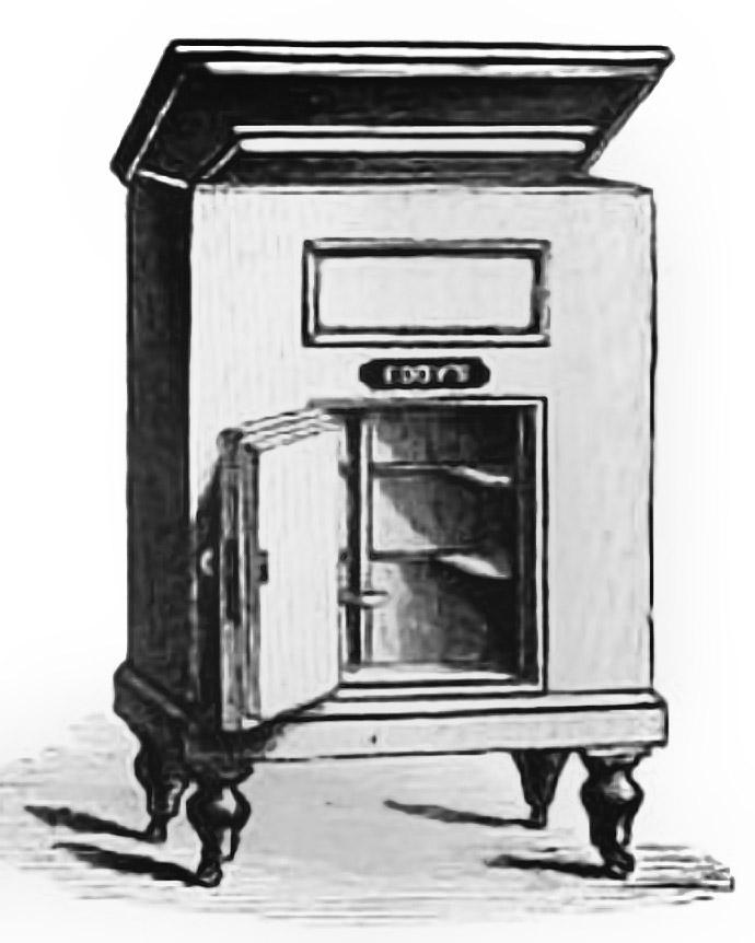 Reclame voor Eddy Darrius koelkast 1881