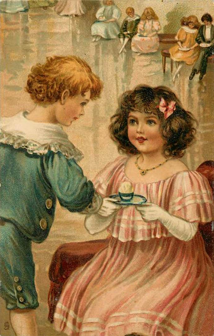 tuck kaart serie childern 1907 E.J