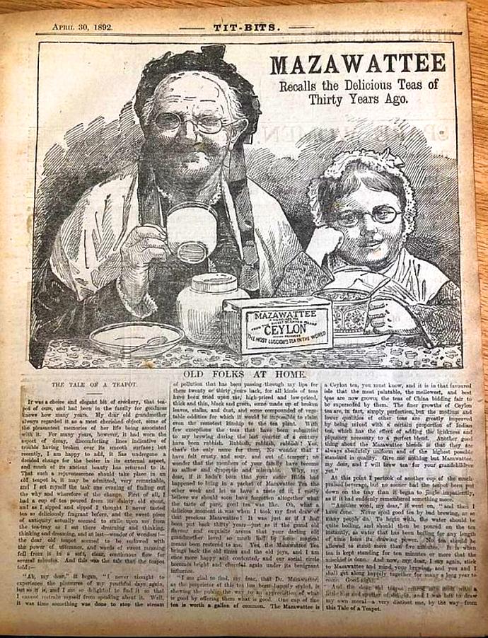victoriaanse nostalgie reclame