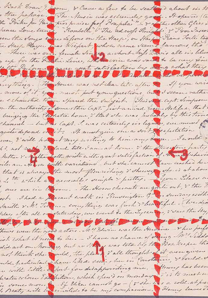 voorbeeld regency brief vouwen