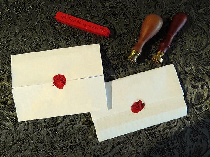 zelf regency brief vouwen verzegelen
