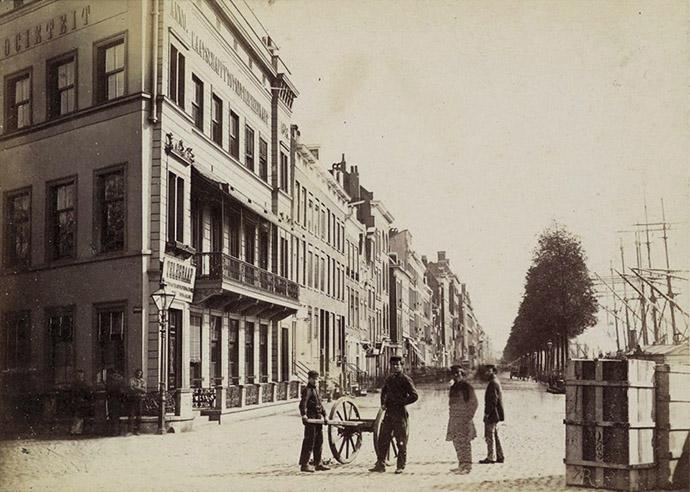 Boompjes Rotterdam voor 1900