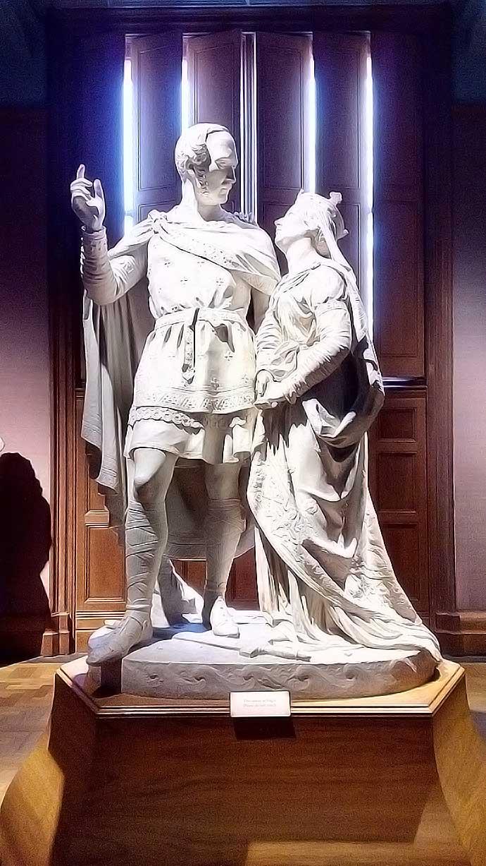 Albert en Victoria standbeeld