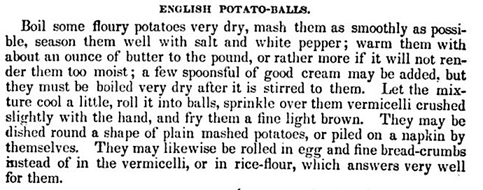 Potato balls eliza acton google books