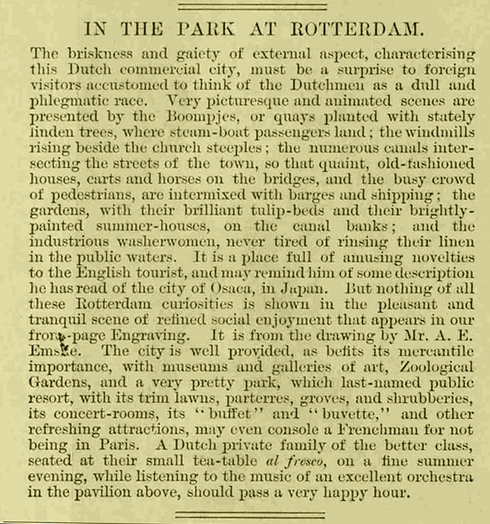 Rotterdam Illustrated London News artikel