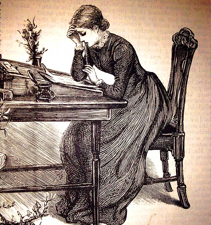 Writing Lady