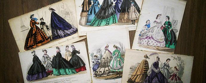 collectie victoriaanse prenten