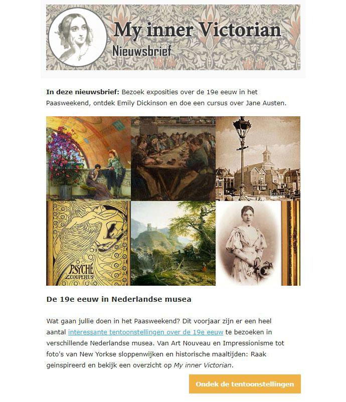 My inner Victorian nieuwsbrief