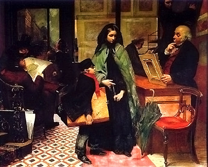 Nameless and Friendless door Emily Mary Osborn 1857