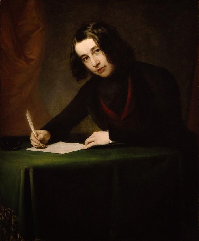 Charles Dickens door Francis Alexander in 1842