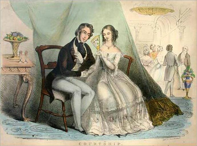 Courtship - victoriaans verliefd stelletje