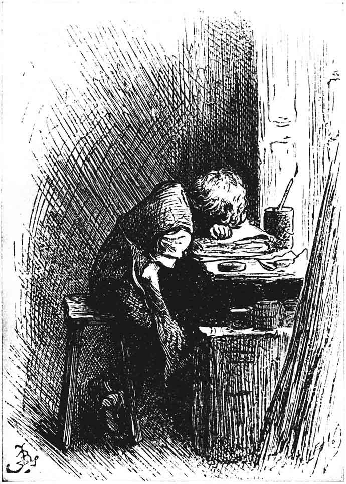 Dickens 12 jaar oud bij Blacking Warehouse