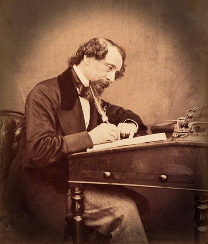 Dickens in 1858 door Watkins2