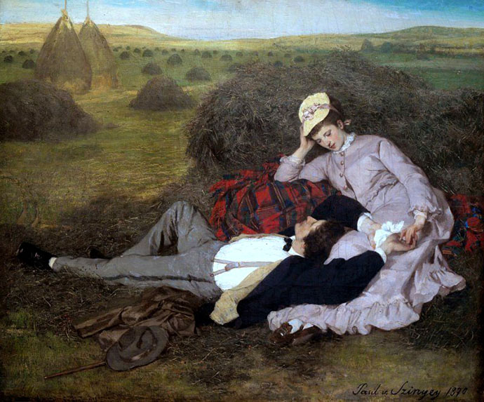Lovers door Pal Szinyei-Merse 1870