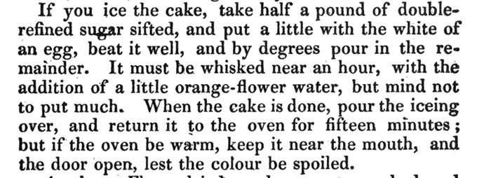 Mrs Rundell Plum Cake Icing