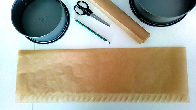 springvorm bekleden met bakpapier