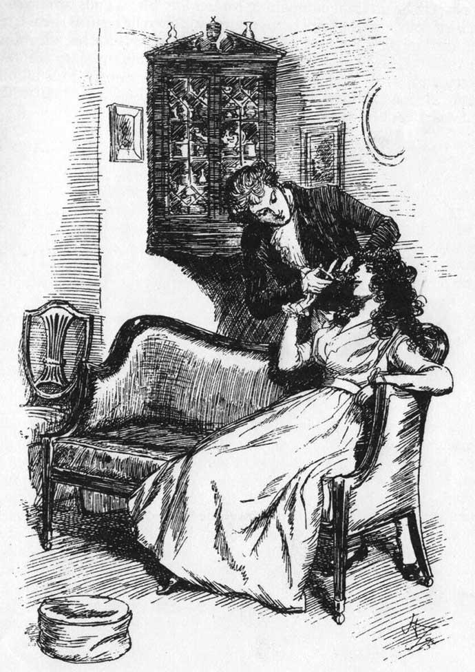Sense and Sensibility Chapter 12 door Hugh Thomson 1896