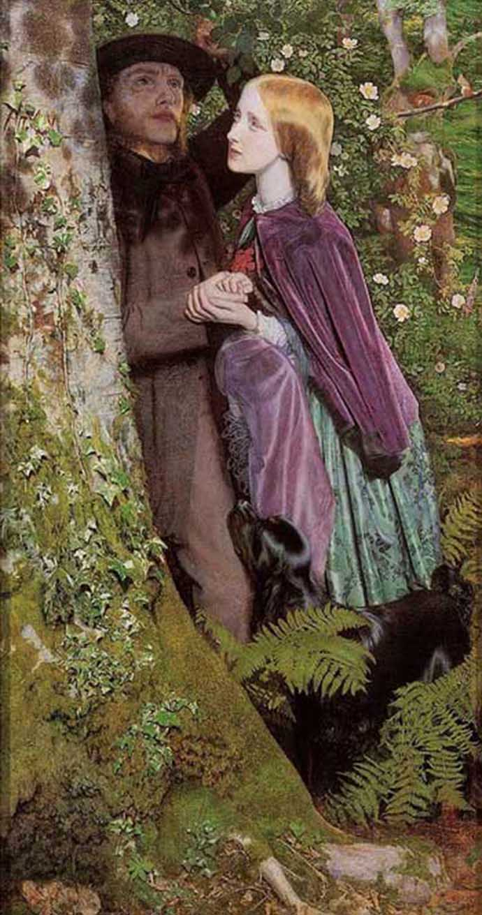 The Long Engagement door Arthur Hughes 1859