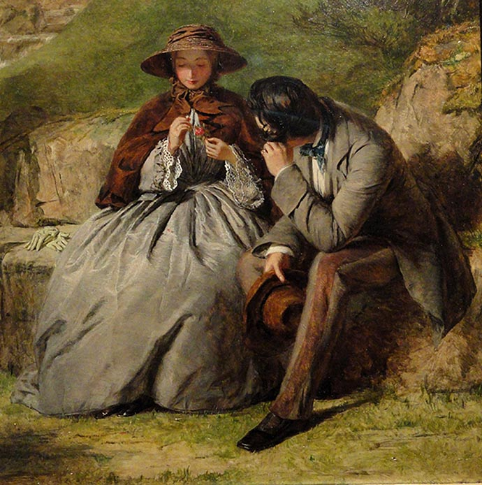 The Lovers William Powell Frith 1855
