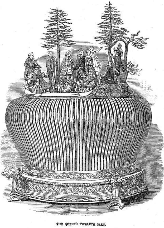 kerstcake koningin Victoria
