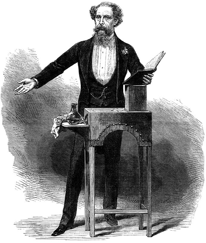 charles dickens public reading
