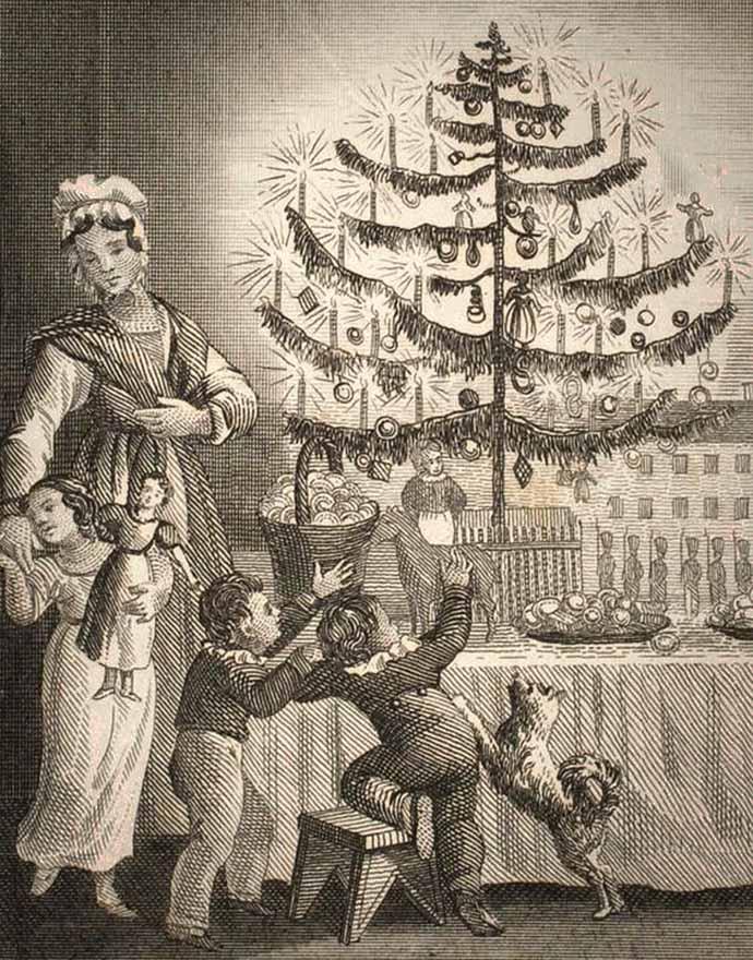 Kerstboom victoriaans