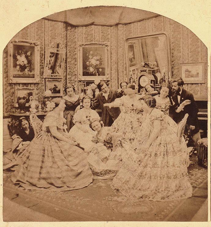 stereofoto-victoriaanse-kerst-spelletjes