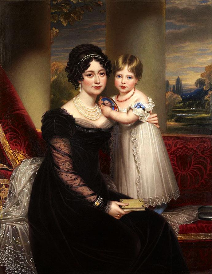 prinses-victoria-met-moeder-hertogin-van-kent-henry-bone
