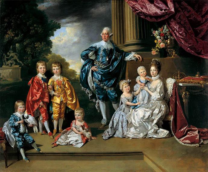 george-III-koningin-charlotte-zes-oudste-kinderen