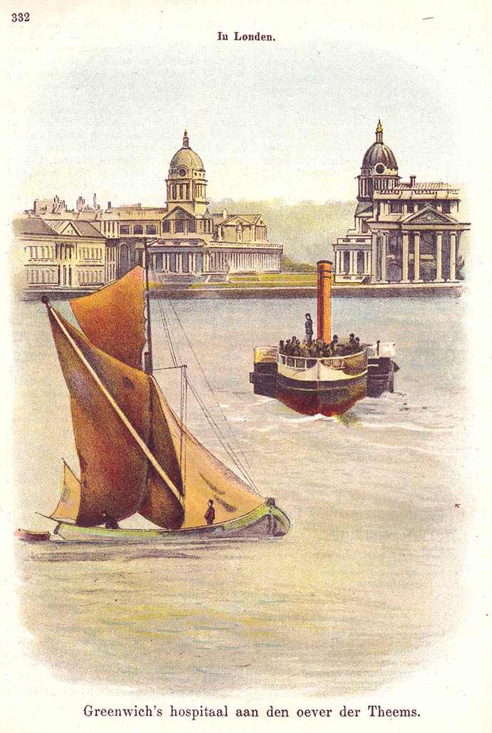 greenwich-hospital-thames-london-prent