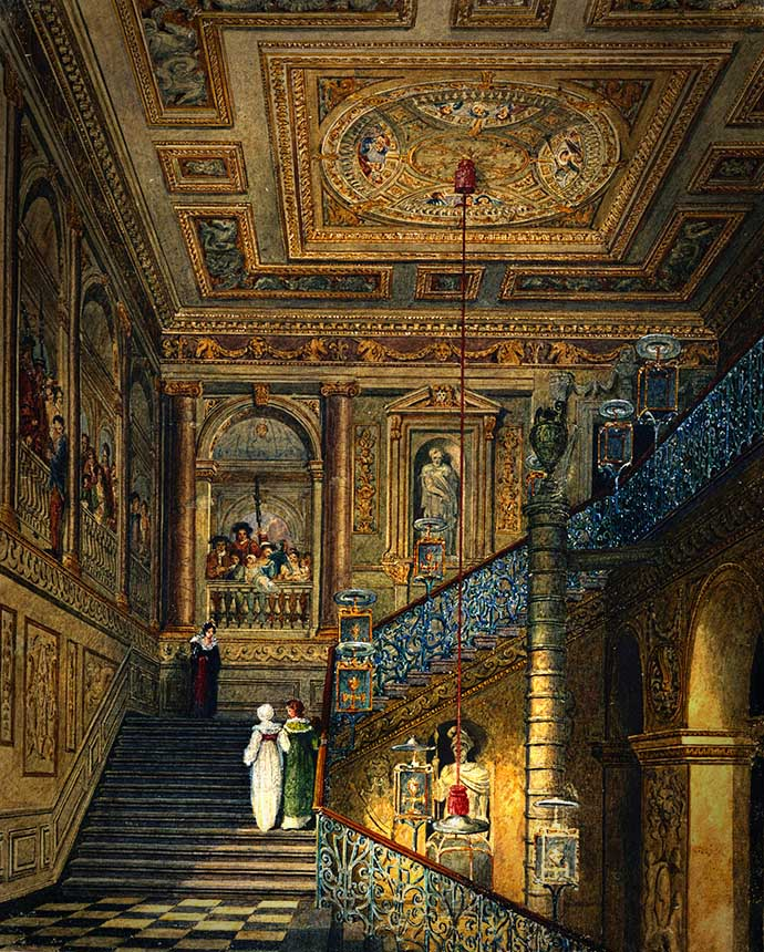 kensington-palace-trappen-charles-wild-1819