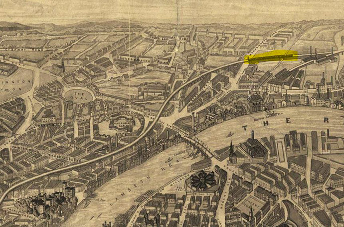londen-1851-panorama-kaart-trein