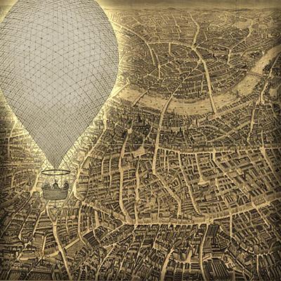 victoriaans-londen-ballon-panorama-kaart-1851