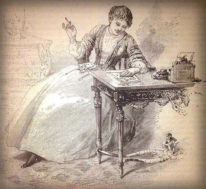victoriaanse-schrijvende-vrouw-bloggen