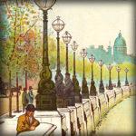 Victoriaans Londen in kleurige tekeningen