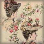 Victoriaanse hoedenmode: Een modeplaat uit 1892