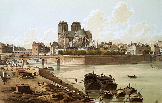 geschiedenis-notre-dame-19e-eeuw-gravure-ile-de-france-1830