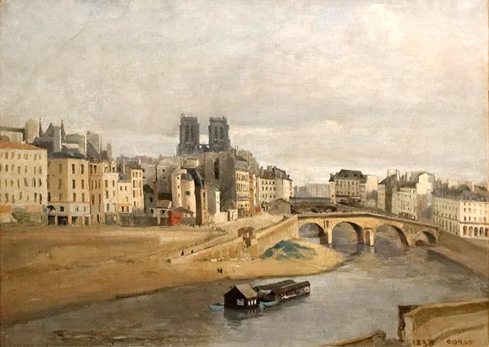 geschiedenis-notre-dame-19e-eeuw-jean-baptiste-corot-orfèvres-pont-saint-michel