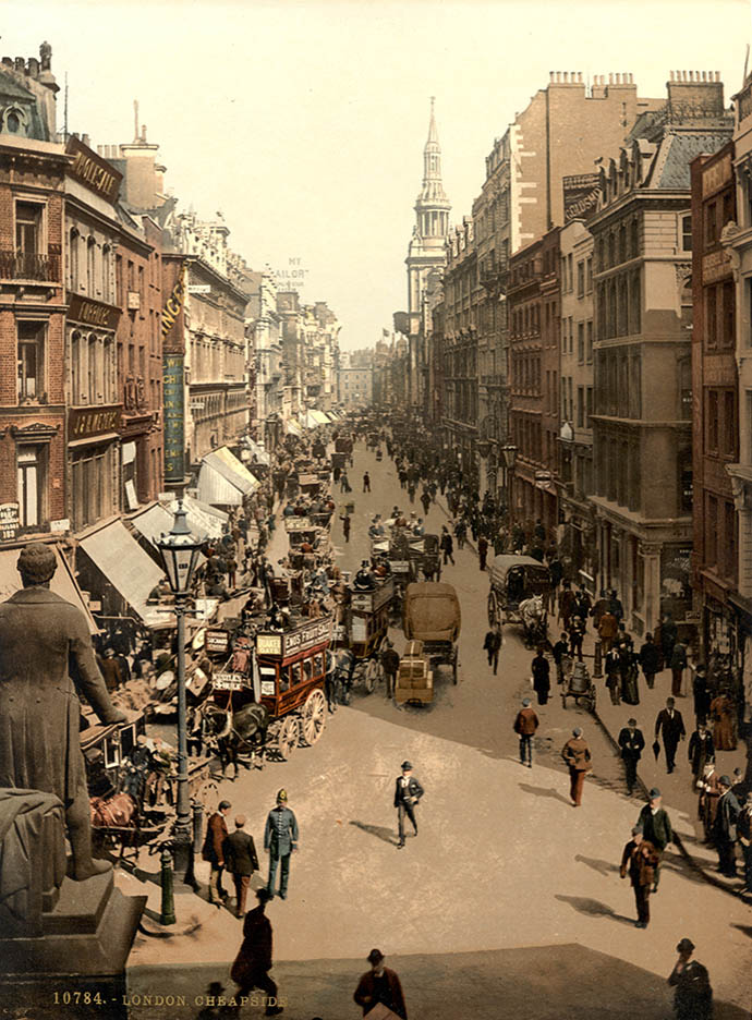 fotochroom-victoriaans-londen-kleur-cheapside