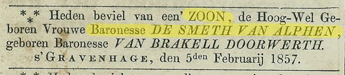 krant-1857-geboorte-de-smeth