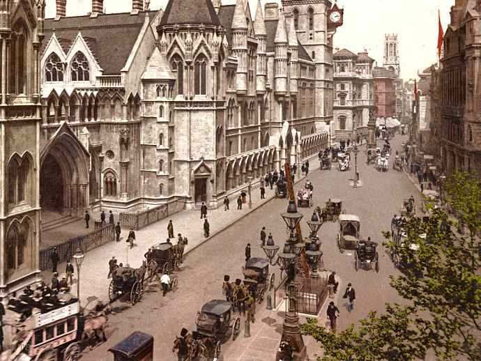 fotochroom-victoriaans-londen-royal-courts-justice-strand