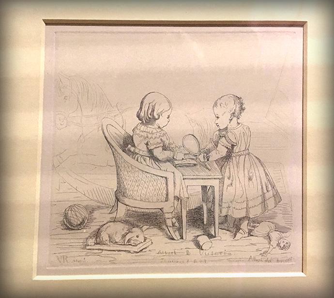 victoria-tentoonstelling-kensington-palace-woman-crown-tekeningen-schetsen