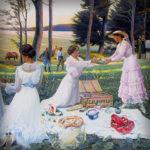 Vijf vrolijke victoriaanse vakantieplaatjes
