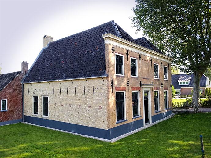 De gerestaureerde buitenkant van de voormalige boerderij van Adriaan Leeuwenhoek in Hekendorp in 2019.