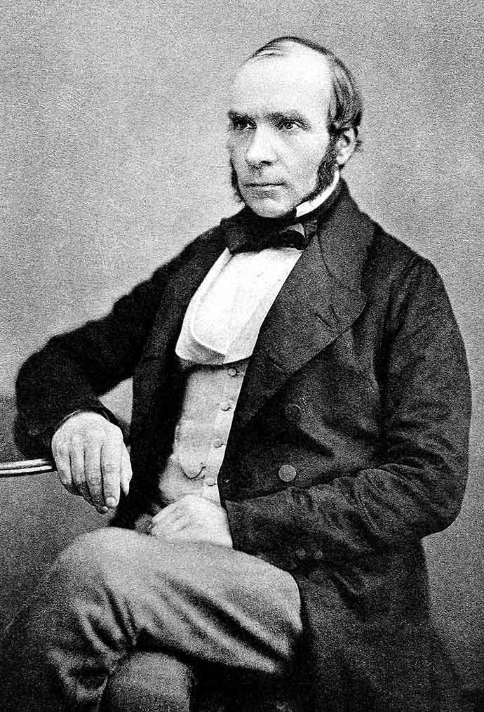 Dr. John Snow, fotoportret op een autotypie uit 1856, uitgegeven in 1887.