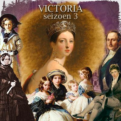 Collage bij seizoen drie van de serie Victoria, 2019.