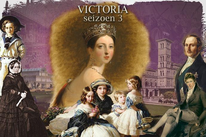 Collage bij seizoen drie van de serie Victoria, 2019,.