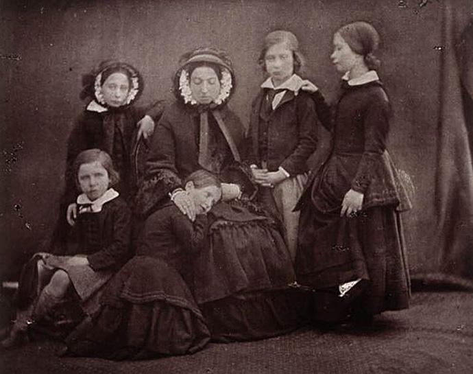 Koningin Victoria met haar kinderen 1852